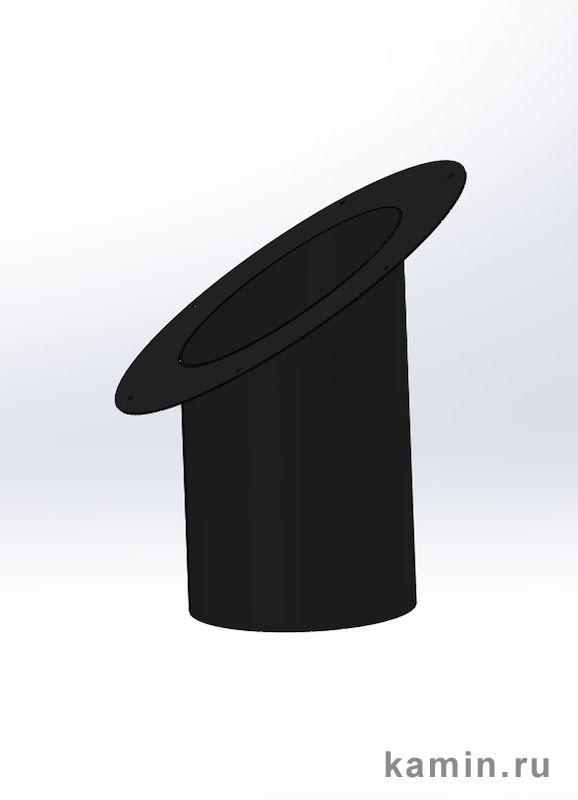 Домотехника: Центральный камин Doria (Traforart), телескопический элемент круглого сечения с розеткой для наклонного потолка